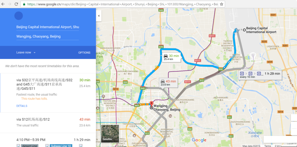 Google Map China Beijing, how to use map in China